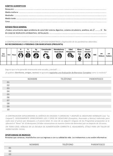 Ficha Evaluación alimentaria