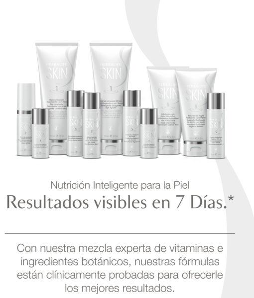 Banner publicitario de Herbalife con la línea Skin y sus productos
