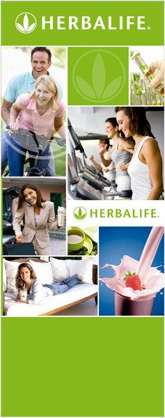 Banner Herbalife Verde