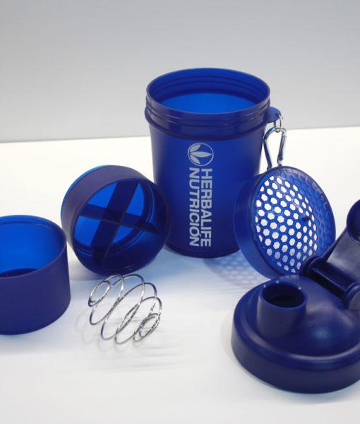 Super Coctelera Azul Herbalife Nutricion Batido Batidora Shaker Smoothie