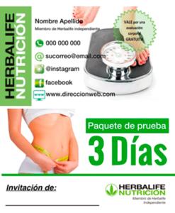 impresionarte-xativa-nutricion-herbalife-tarjetas-prueba-paquete-3-dias-herbalife-cliente-productos-tester-probar-miembro-independiente