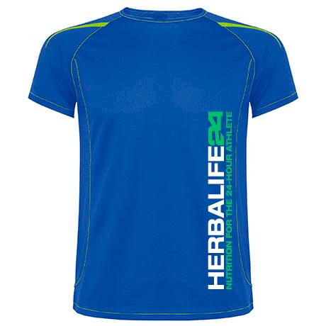 Impresionarte-Xativa-Nutricion-Herbalife-camiseta-tecnica-H24-shirt-deportiva-24-horas-azul-blue