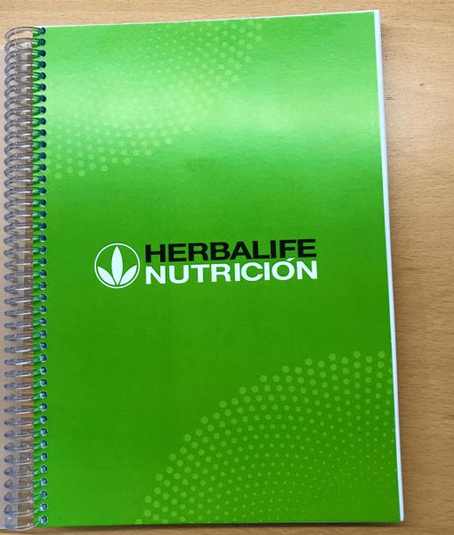 Impresionarte-Xativa-Nutricion-Herbalife-libreta-bloc-cuaderno-apuntes-notas-libro-escribir-documentos-datos-anotar-clases-verde-bienestar-saludable-estudiar