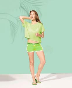 Impresionarte-Xativa-Nutricion-Herbalife-short-pantalones-corto-malla-verde-mujer-ella-fosforito-verano-playa-piscina-bikini-agua
