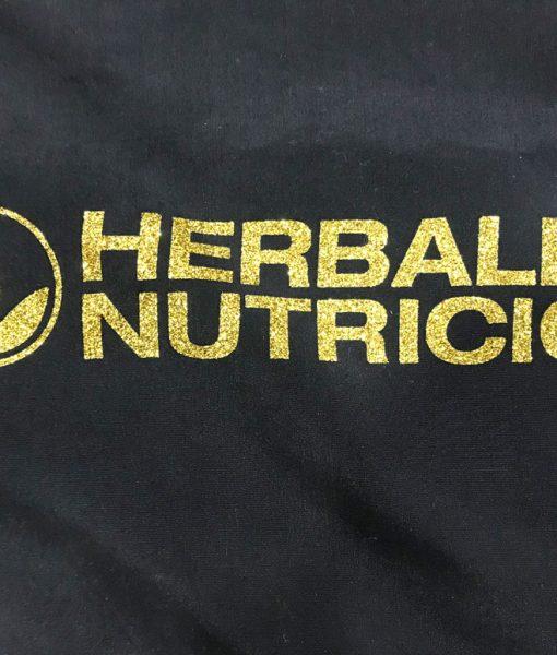 Impresionarte-Xativa-Nutricion-Herbalife-Mochila-Saco-Evento-turismo-Tela-Negra-Negro-Dorado-Glitter-Oro-Purpurina-2017-2018-Moda