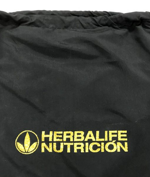 Impresionarte-Xativa-Nutricion-Herbalife-mochila-bolsa-bolso-dual-saco-tela-algodon-textil-ropa-complemento-trabajo-glitter-dorado-oro-brillo
