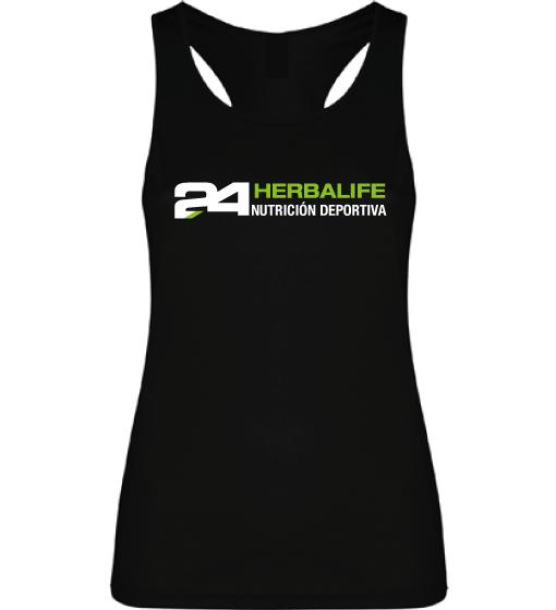 Impresionarte-Xativa-Herbalife-Nutricion-Camiseta-Tirantes-Deportiva-Gimnasio-Running-Sudar-Transpirar-Tecnica-Correr-Carrera-Negra-H24