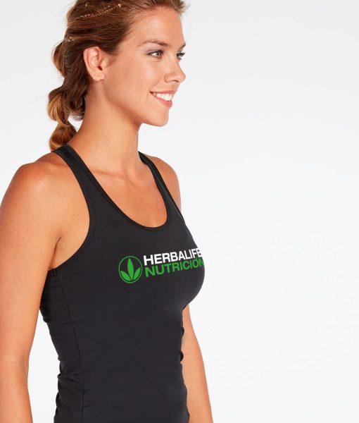 Impresionarte-Xativa-Herbalife-Nutricion-Camiseta-Tirantes-Mujer-Ella-Tirantes-Suave-Lycra-Elastica-Negra-Nadadora-Woman-Deporte-Sport-Tecnica-Transpirable-Gym-Entrene-Ejercicio-Deportiva