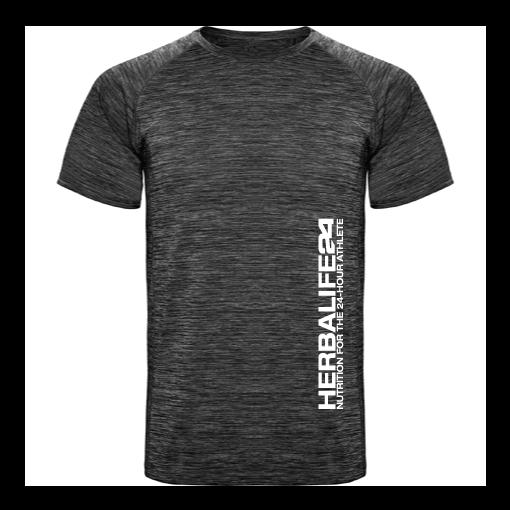 Impresionarte-Xativa-Herbalife-Nutricion-Camiseta-gris-hombre-deporte-unisex-thin-fit-fitness-gimnasio-running-carrera-correr-sport-ejercicio-entrenamiento-sudor-transpirable-tecnica